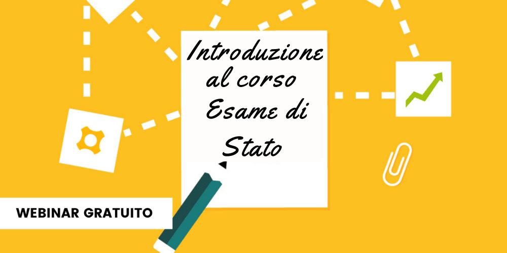 Introduzione al corso Esame di Stato
