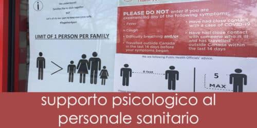 """""""Circle UP"""": un modello di supporto psicologico agli operatori sanitari, durante la pandemia COVID-19"""