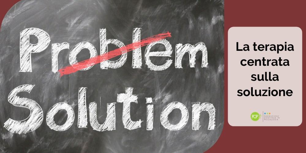 terapia centrata sulla soluzione