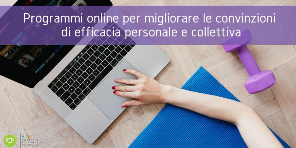 convinzioni di efficacia online