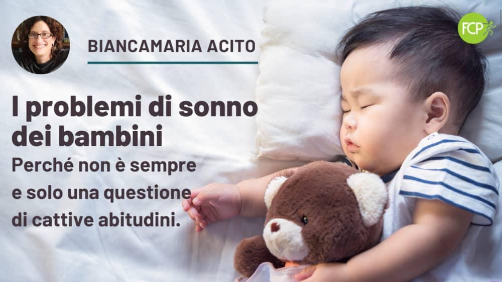 I problemi di sonno dei bambini