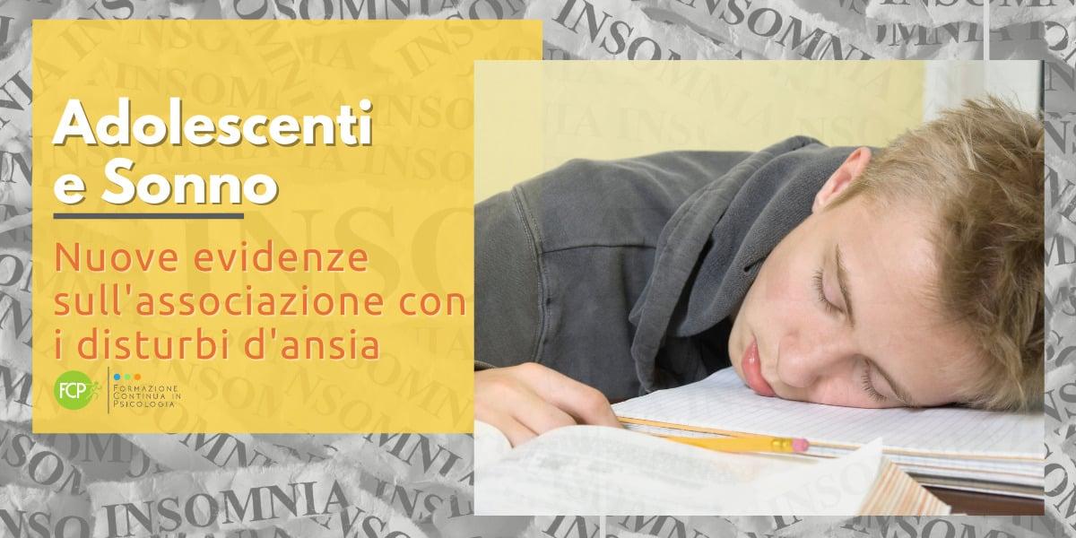 adolescenti e sonno