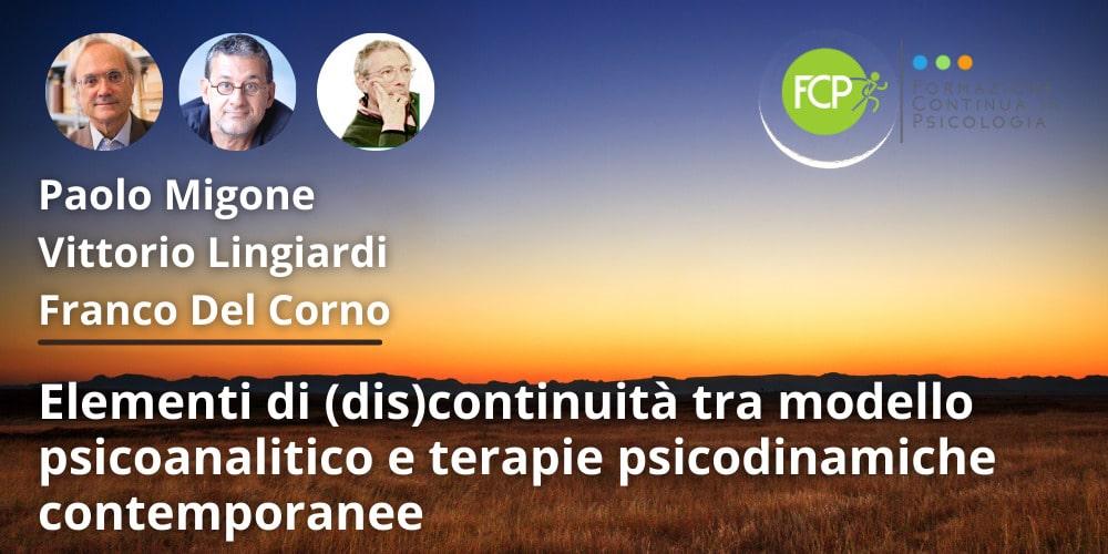 modello psicoanalitico e terapie psicodinamiche contemporanee