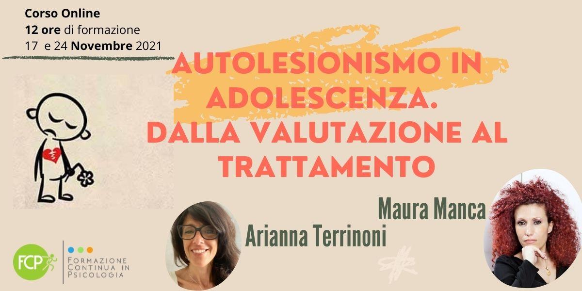 Autolesionismo in Adolescenza valutazione trattamento