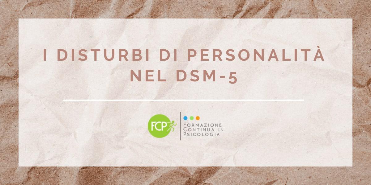 disturbi di personalità nel DSM-5
